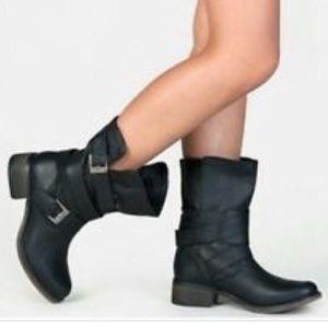 Genuine Leather Moto Boots 6.5 Steve Madden